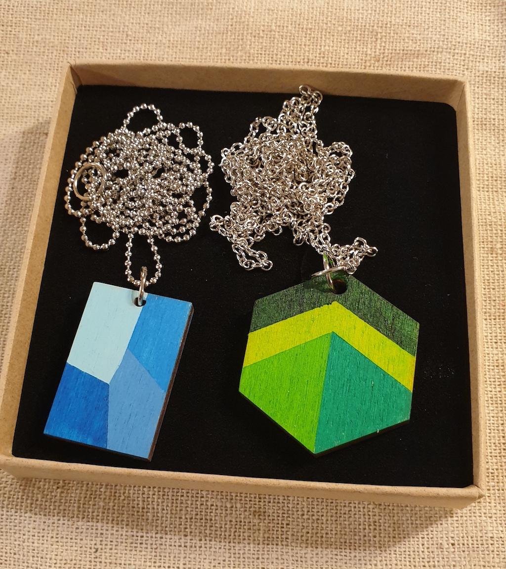prd halsketting geometrie kleur