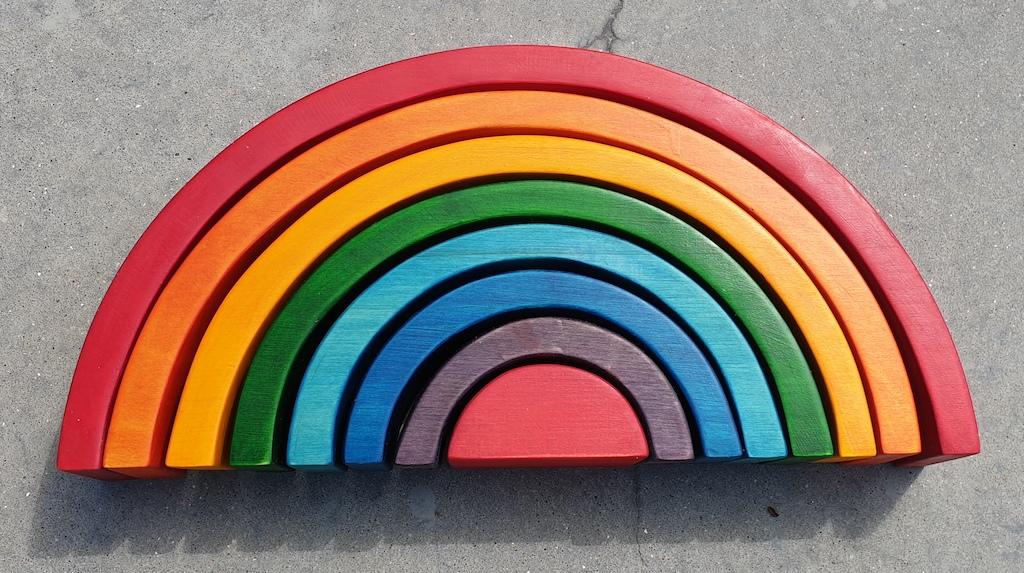 prd regenboog kleuren